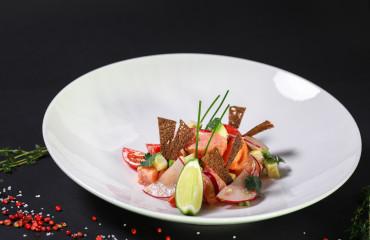 Севиче из лосося с чили перцем и цедрой лайма
